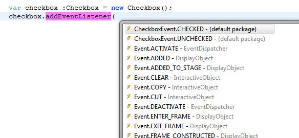 code completion with event metatags in Flash Builder