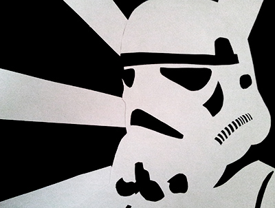 close up of the storm trooper picture