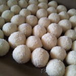 many home made made coconut pralines